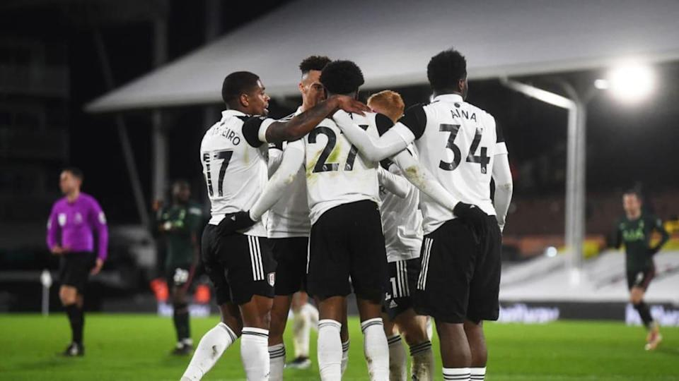La momentanea esultanza dei giocatori del Fulham | Pool/Getty Images