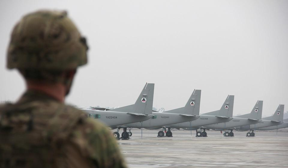 Image: Afghan Air Force planes in Kabul (Christine-Felice Rohrs / picture alliance via Getty Images file)