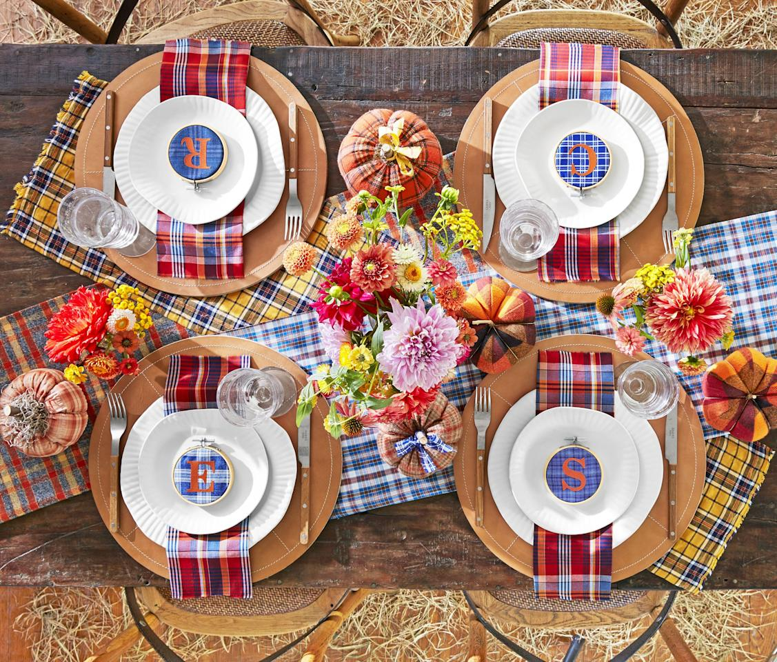 """<p><a href=""""https://www.goodhousekeeping.com/holidays/thanksgiving-ideas/"""" target=""""_blank"""">Thanksgiving</a> is a cozy lover's paradise — let's face it, it's the only holiday where <a href=""""https://www.goodhousekeeping.com/clothing/g27258388/best-yoga-pants/"""" target=""""_blank"""">stretchy pants</a> are deemed acceptable (if not, necessary). With that, it's important that your home gives off that same cozy yet chic vibe to party guests. You're in luck: Warm up your house — <a href=""""https://www.goodhousekeeping.com/home/decorating-ideas/g1730/decor-ideas-dining-room/"""" target=""""_blank"""">dining room, especially</a> — with these fall-friendly Thanksgiving decorations. These easy DIY decorating ideas highlight everything you love most about the season: rich colors, bold plaids, crisp apples, corn husks, and more. And while you can easily deck out your house from the floors to the rafters with pumpkins, leaves, and rustic accents, these decorations will really shine at your Thanksgiving dinner table. Rather than sticking with classic (read: boring) options, revamp your holiday tablescape with these Thanksgiving-appropriate <a href=""""https://www.goodhousekeeping.com/holidays/thanksgiving-ideas/g1681/thanksgiving-centerpieces-easy-elegant/"""" target=""""_blank"""">centerpieces</a>, <a href=""""https://www.goodhousekeeping.com/holidays/thanksgiving-ideas/g1190/diy-holiday-place-cards/"""" target=""""_blank"""">place cards</a>, and <a href=""""https://www.goodhousekeeping.com/holidays/thanksgiving-ideas/g143/bold-thanksgiving-place-settings/"""" target=""""_blank"""">table settings</a>. </p><p>Now that you've got the decorations sorted, it's time to focus on nailing the perfect feast with these <a href=""""https://www.goodhousekeeping.com/holidays/thanksgiving-ideas/g1918/thanksgiving-dinner-recipes/"""" target=""""_blank"""">best-ever turkey, mashed potato, and pie recipes</a>. 'Tis the season! <br></p>"""