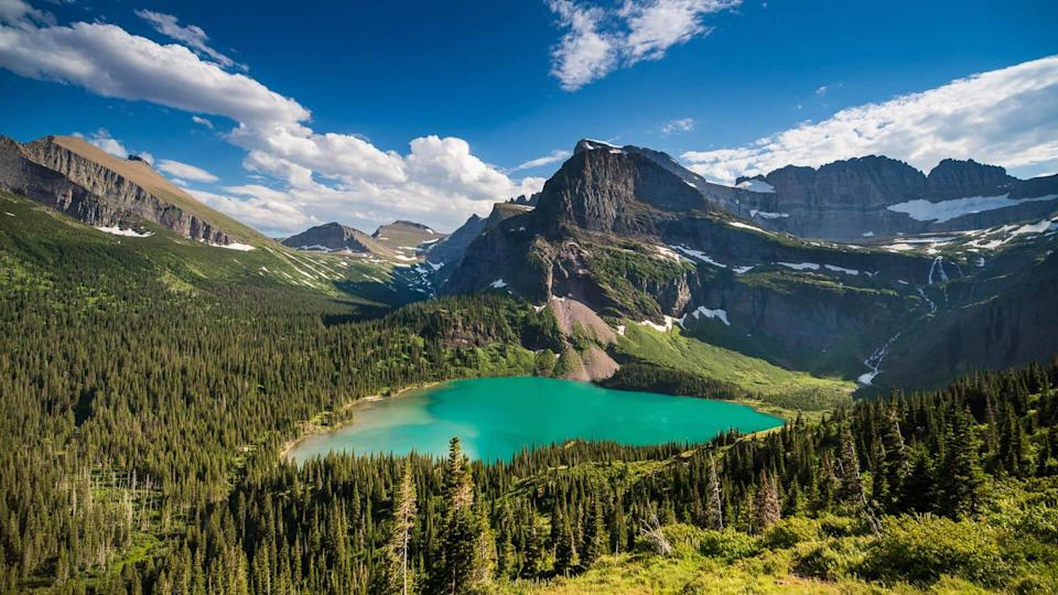 Montana - Western USA, Summer, Mountain, Famous Place, Grinnell Lake.