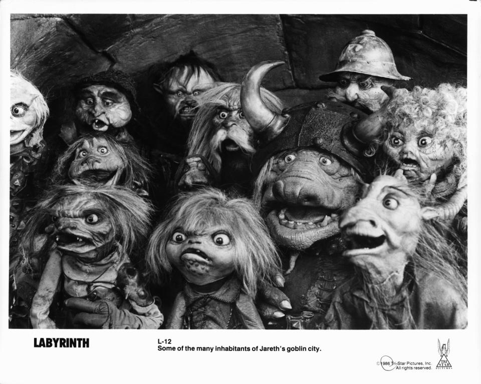 Goblins in a scene from the film 'Labyrinth', 1986. (Photo by TriStar/Getty Images)
