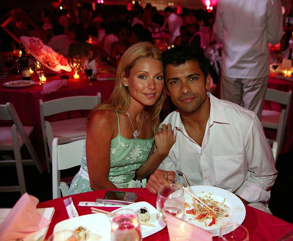 at a dinner in the hamptons