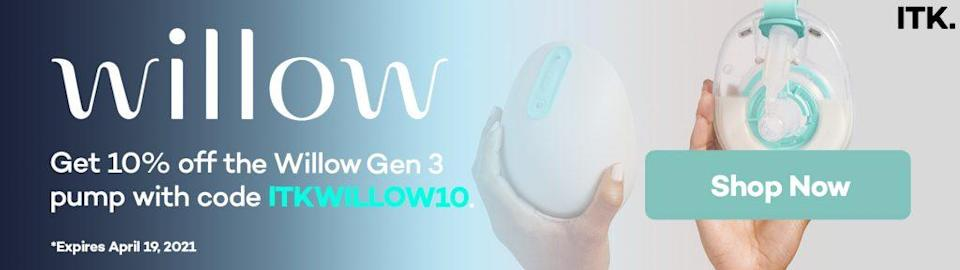 willow breast pump promo code