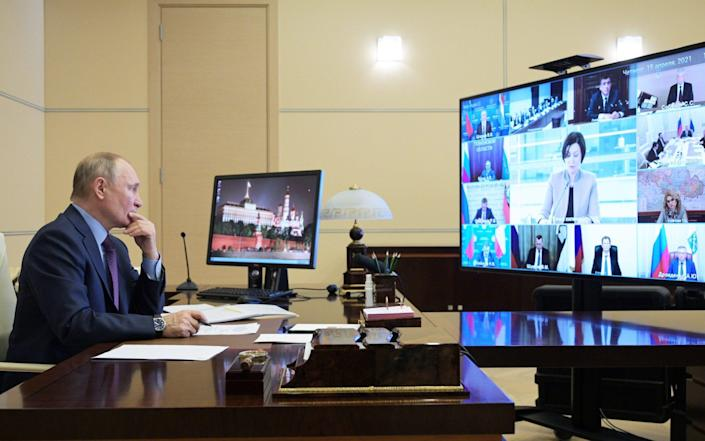 Vladimir Putin has been accused of sponsoring cyber attacks against the West - GETTY IMAGES