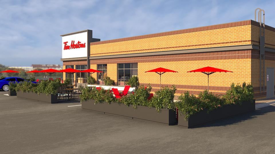 Tim Hortons plans on opening 1,000 patios at its restaurants across the country by early July.