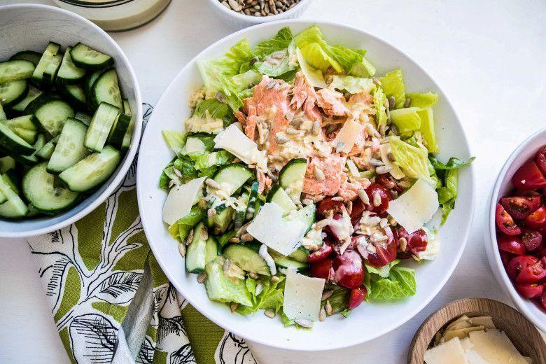 """<p>Here's a grilling recipe that will likely make an appearance on your table several times a month during the summer. </p><p><strong><a href=""""https://thepioneerwoman.com/food-and-friends/grilled-salmon-caesar-salad/"""" rel=""""nofollow noopener"""" target=""""_blank"""" data-ylk=""""slk:Get the recipe."""" class=""""link rapid-noclick-resp"""">Get the recipe.</a></strong></p><p><a class=""""link rapid-noclick-resp"""" href=""""https://go.redirectingat.com?id=74968X1596630&url=https%3A%2F%2Fwww.walmart.com%2Fip%2FThe-Pioneer-Woman-Timeless-Beauty-Pre-Seasoned-Plus-20-Cast-Iron-Double-Griddle%2F117723541&sref=https%3A%2F%2Fwww.thepioneerwoman.com%2Ffood-cooking%2Fmeals-menus%2Fg32188535%2Fbest-grilling-recipes%2F"""" rel=""""nofollow noopener"""" target=""""_blank"""" data-ylk=""""slk:SHOP GRIDDLES"""">SHOP GRIDDLES </a></p>"""