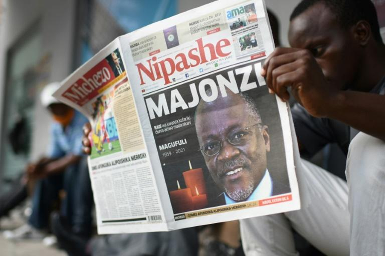 Many Tanzanians were stunned to hear of Magufuli's death. The Nipashe newspaper headlined with 'Majonzi' - 'Grief'