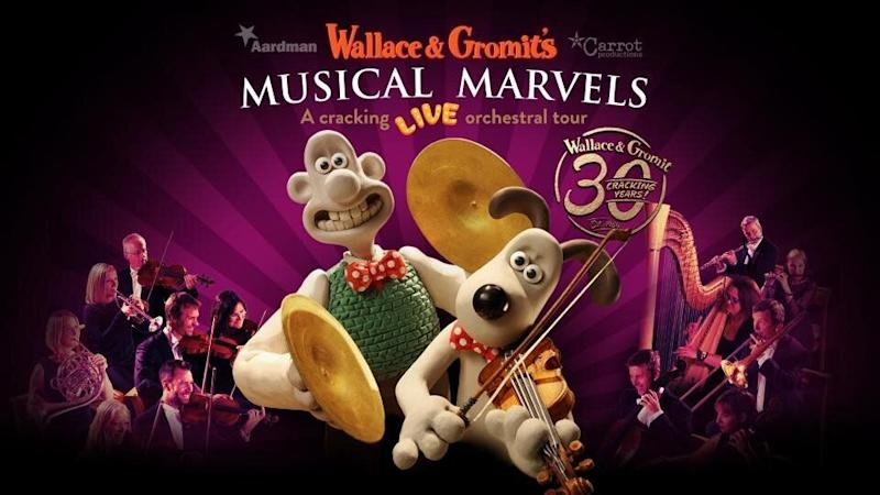 Wallace & Gromit are hitting the road in Spring 2019 with a touring orchestral show. The tour will consist of 38 performances at 18 major venues across the UK in May and June 2019. (Carrot Productions/Aardman)