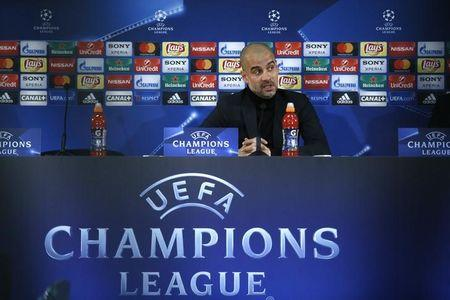 Soccer Football - Manchester City Press Conference - Stade Louis II, Monaco - 14/3/17 Manchester City manager Pep Guardiola during the press conference  Action Images via Reuters / Andrew Couldridge Livepic