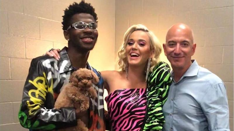 Lil Nas X Parties Backstage With Katy Perry and Jeff Bezos
