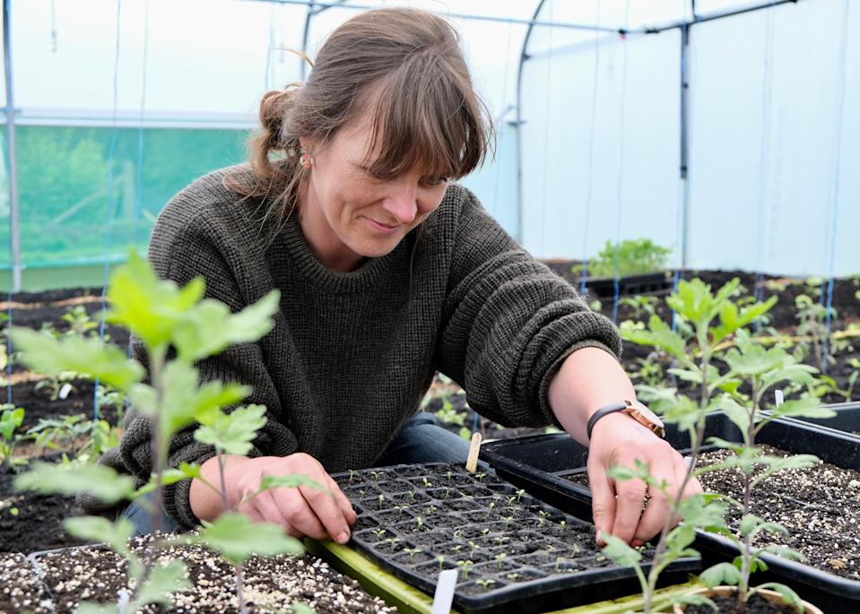 Sitopia founder and chief grower Chloë Dunnett (Mark Blunden)