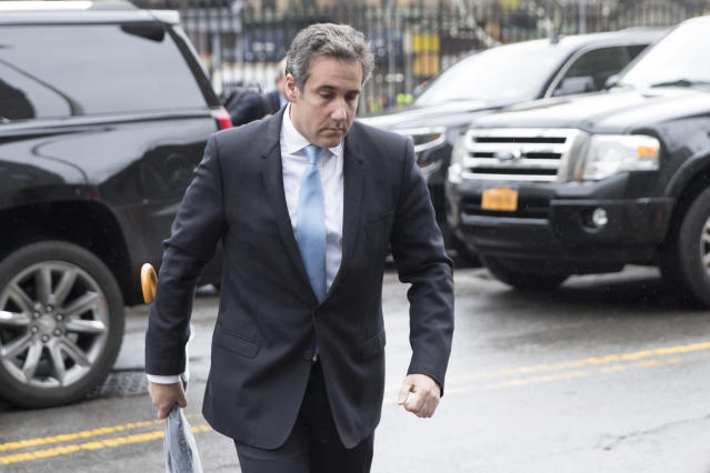 Michael Cohen, President Trump's personal attorney, arrives at federal court in New York on April 16. (AP Photo/Mary Altaffer)