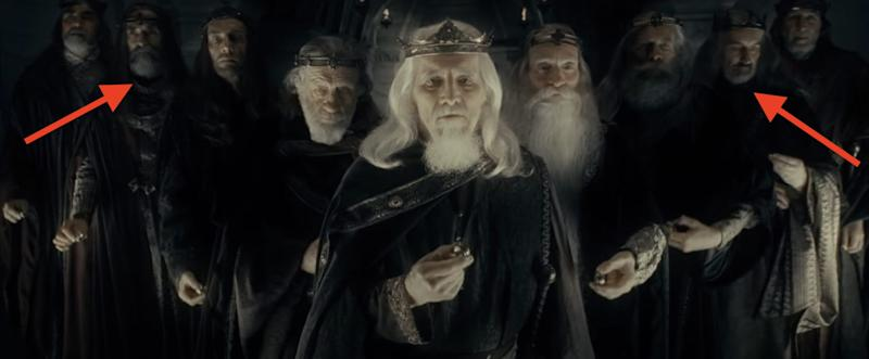 Nine Men given rings Lord of the Rings Fellowship of the Ring New Line Cinema