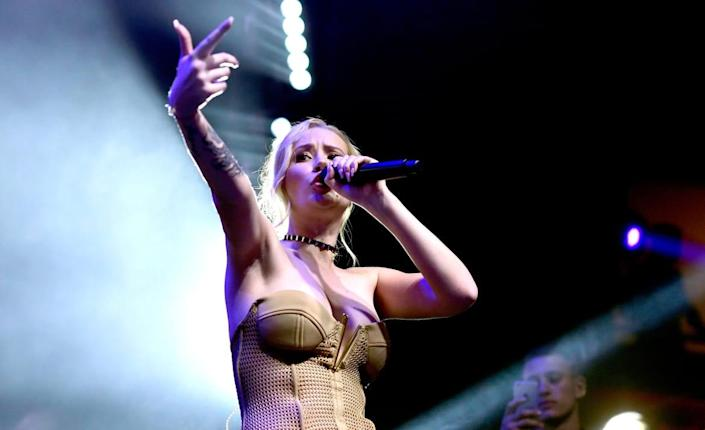 """<div class=""""inline-image__caption""""><p>Iggy Azalea performs onstage during the 2016 MAXIM Hot 100 Party at the Hollywood Palladium on July 30, 2016, in Los Angeles, California. </p></div> <div class=""""inline-image__credit"""">Frazer Harrison/Getty</div>"""