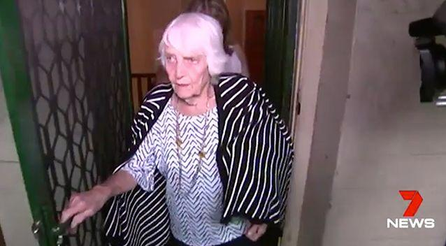 Flo Seckold emotionally said goodbye to her lifelong home on Tuesday. Photo: 7 News