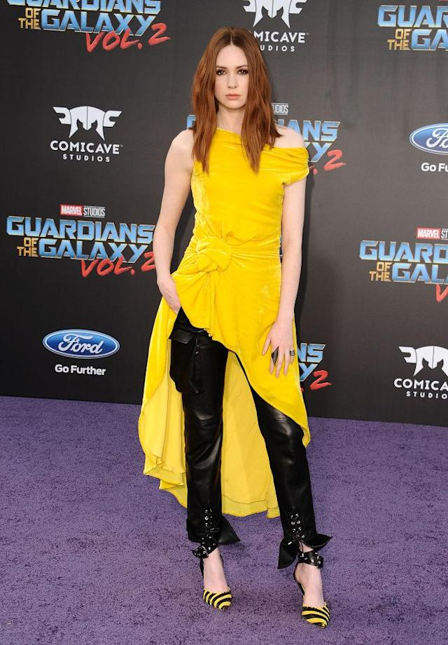 Karen Gillan in Monse. (Photo: Getty Images)