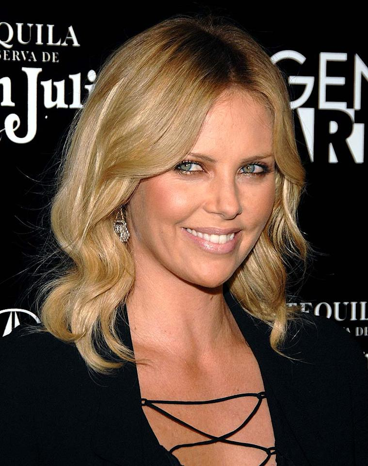"South African beauty Charlize Theron must always be moisturizing! Jean-Paul Aussenard/<a href=""http://www.wireimage.com"" target=""new"">WireImage.com</a> - September 22, 2008"