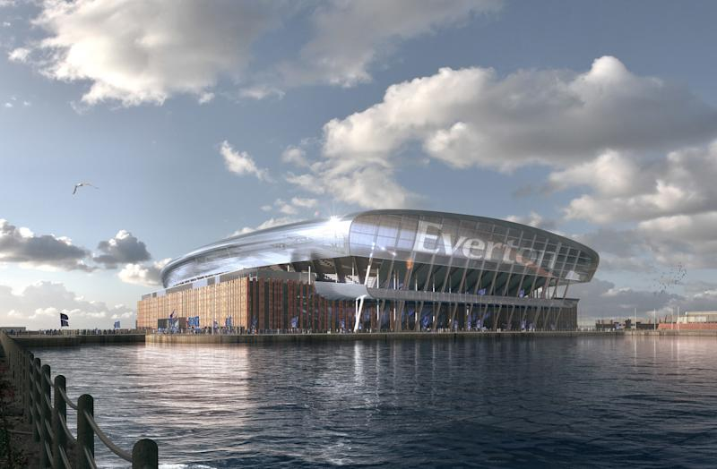 Everton has revealed the proposed designs for its iconic new stadium (Credit: Everton FC/PA Wire)