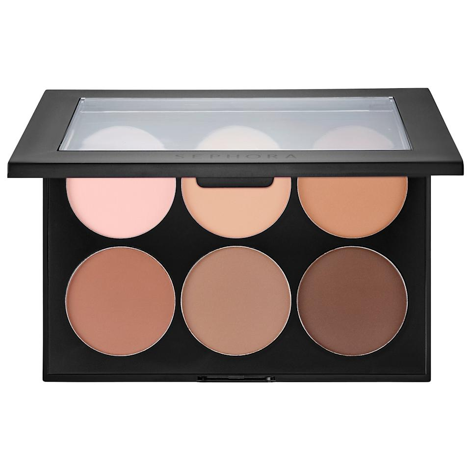 "<p>The matte powders inside the <a href=""https://www.popsugar.com/buy/Sephora-Collection-Contour-Face-Palette-500280?p_name=Sephora%20Collection%20Contour%20Face%20Palette&retailer=sephora.com&pid=500280&price=28&evar1=bella%3Aus&evar9=36773319&evar98=https%3A%2F%2Fwww.popsugar.com%2Fphoto-gallery%2F36773319%2Fimage%2F46747942%2FSephora-Collection-Contour-Face-Palette&list1=makeup%2Cbeauty%20products%2Cinstyle%2Cbeauty%20shopping%2Cbeauty%20review%2Cbeauty%20tips%2Cmakeup%20palettes&prop13=api&pdata=1"" rel=""nofollow"" data-shoppable-link=""1"" target=""_blank"" class=""ga-track"" data-ga-category=""Related"" data-ga-label=""https://www.sephora.com/product/contour-palette-P415403?icid2=products%20grid:p415403:product"" data-ga-action=""In-Line Links"">Sephora Collection Contour Face Palette </a> ($28) will give you a natural-looking finish with their softly pigmented shades. Each shade is buildable, so you won't have to worry about applying too much.</p>"