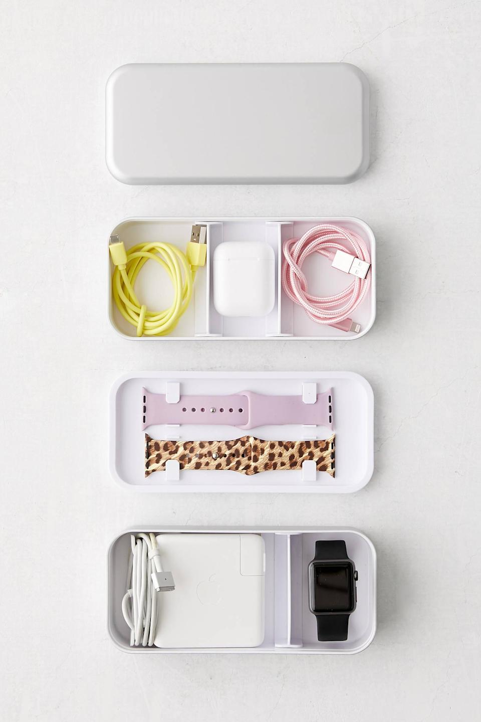 """<h2>BentoStack Tech Organizer</h2><br>Cable management but make it SO freaking cute.<br><br><strong>Urban Outfitters</strong> BentoStack Tech Organizer, $, available at <a href=""""https://go.skimresources.com/?id=30283X879131&url=https%3A%2F%2Fwww.urbanoutfitters.com%2Fshop%2Fbentostack-tech-organizer%3Fcolor%3D066%26type%3DREGULAR%26size%3DONE%2520SIZE%26quantity%3D1"""" rel=""""nofollow noopener"""" target=""""_blank"""" data-ylk=""""slk:Urban Outfitters"""" class=""""link rapid-noclick-resp"""">Urban Outfitters</a>"""