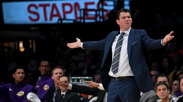 Luke Walton's time with the Los Angeles Lakers could be coming to an end soon. Could UCLA lure him to Westwood? (AP)