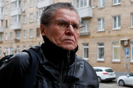 Russian former Economy Minister Alexei Ulyukayev, who was charged with accepting a bribe, arrives for a court hearing in Moscow