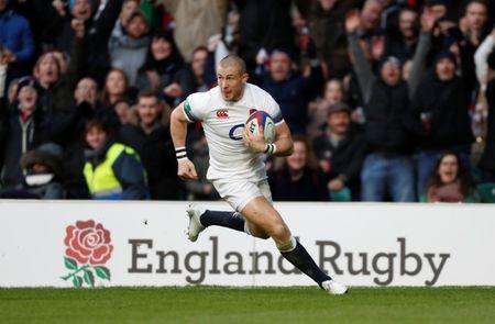 Rugby Union - Autumn Internationals - England vs Samoa - Twickenham Stadium, London, Britain - November 25, 2017 England's Mike Brown scores a try Action Images via Reuters/Paul Childs