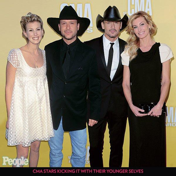 """To help get your country music knowledge up to award-worthy standards ahead of the Nov. 13 CMA Awards, we rounded up some of the genre's most popular acts and saddled them up beside their younger selves. First up: The power couple of country music, <a href=""""../tag/faith-hill/"""">Hill</a> and <a href=""""../tag/tim-mcgraw/"""">McGraw</a>, who only get better with age."""