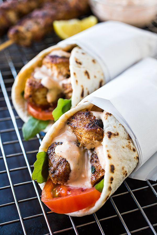 """<p>Just wrap it up, ladies and gents.</p><p>Get the recipe at <a href=""""http://thecozyapron.com/grilled-lemon-chicken-flatbread-wraps-and-that-golden-hued-evening-sky/"""" rel=""""nofollow noopener"""" target=""""_blank"""" data-ylk=""""slk:The Cozy Apron"""" class=""""link rapid-noclick-resp"""">The Cozy Apron</a>.</p>"""