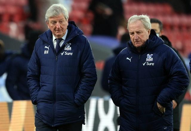 Crystal Palace manager Roy Hodgson, left, with Ray Lewington