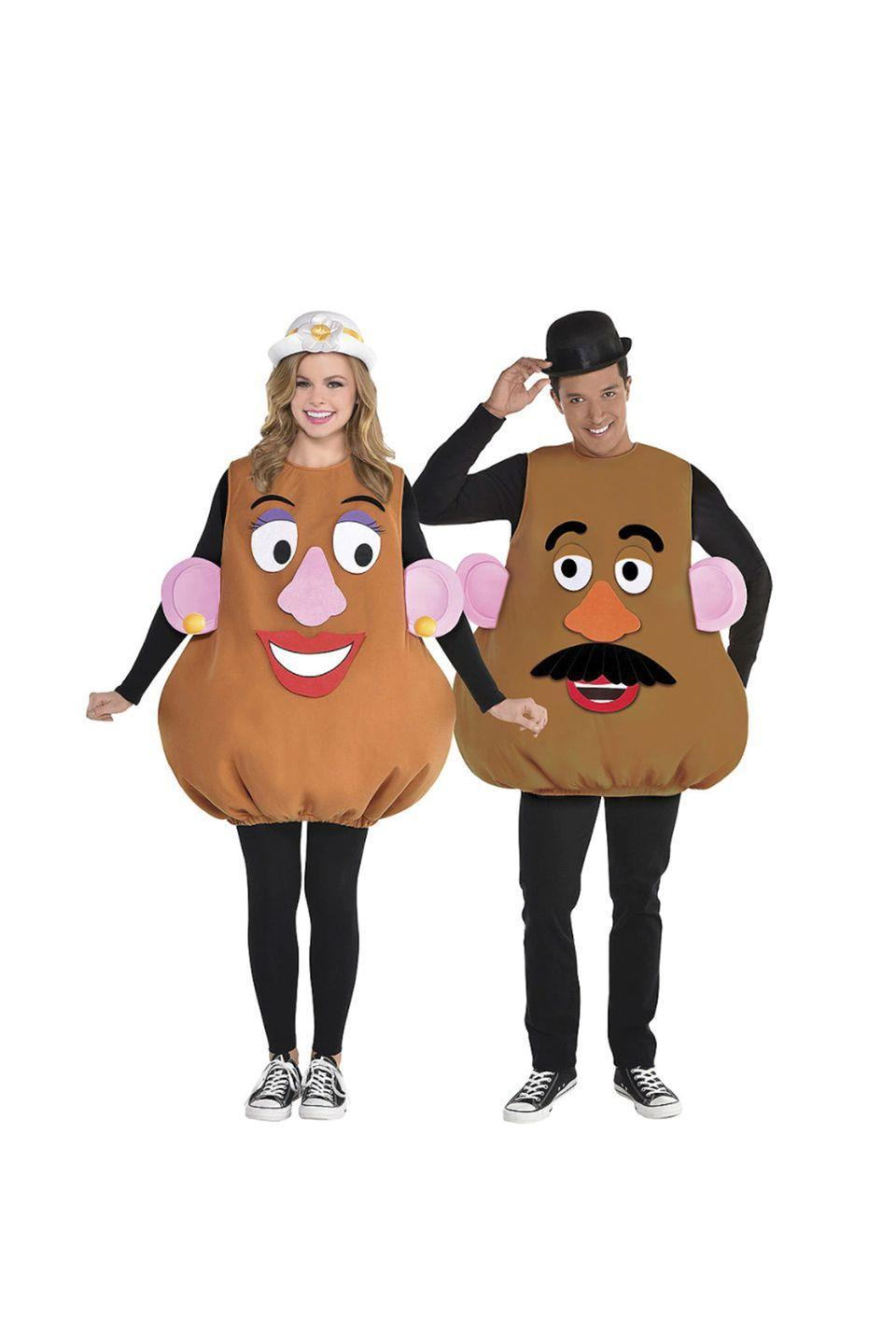 """<p>You can't go wrong with this iconic couple. Bring Mr. and Mrs. Potato Head to any halloween party you attend.</p><p><a class=""""link rapid-noclick-resp"""" href=""""https://www.partycity.com/adult-mr.-potato-head-and-mrs.-potato-head-couples-costume-accessory-kits-G842221.html?cgid=couples-costumes-disney"""" rel=""""nofollow noopener"""" target=""""_blank"""" data-ylk=""""slk:SHOP MR. POTATO HEAD COSTUME"""">SHOP MR. POTATO HEAD COSTUME</a></p><p><a class=""""link rapid-noclick-resp"""" href=""""https://www.partycity.com/adult-mrs.-potato-head-costume-accessory-kit---toy-story-4-P842219.html"""" rel=""""nofollow noopener"""" target=""""_blank"""" data-ylk=""""slk:SHOP MRS. POTATO HEAD COSTUME"""">SHOP MRS. POTATO HEAD COSTUME</a> </p>"""