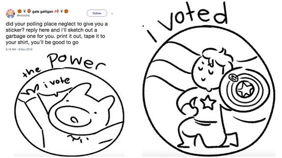 image regarding I Voted Stickers Printable named This illustrators developing hand-drawn I Voted stickers for