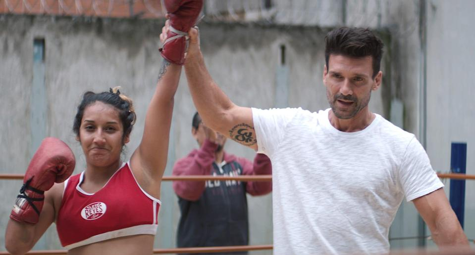 """<p>If you're in the mood to watch a docuseries that involves the same themes as <strong>Cobra Kai</strong>, try <strong>FightWorld</strong>. The show follows actor and MMA-enthusiast Frank Grillo around the world as he learns about different fight cultures and techniques. Understanding the differences and similarities of each tradition, Grillo's interviews and lessons teach him much more than just how to fight.</p> <p> <a href=""""https://www.netflix.com/search?q=fightworld&amp;jbv=80187722"""" class=""""link rapid-noclick-resp"""" rel=""""nofollow noopener"""" target=""""_blank"""" data-ylk=""""slk:Watch FightWorld on Netflix."""">Watch <strong>FightWorld</strong> on Netflix.</a></p>"""