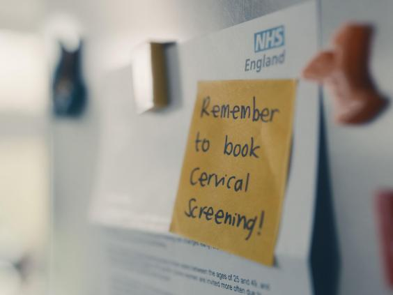 A still image from the Cervical Screening Saves Lives TV advertisement