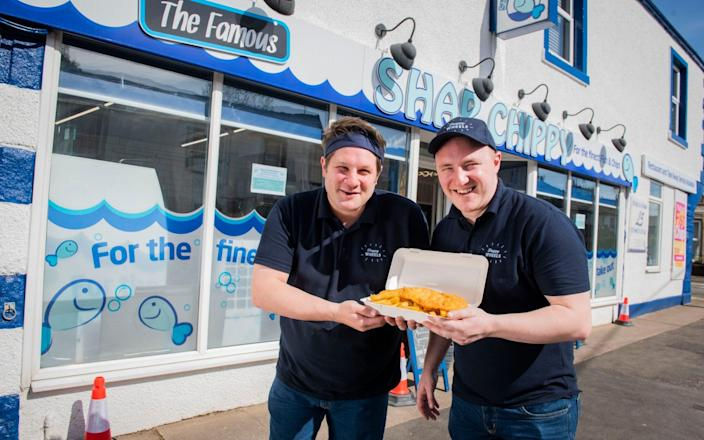 App ordering and a mobile chip shop are just some of the ways in which fish and chip shops are staying open - Chris Watt