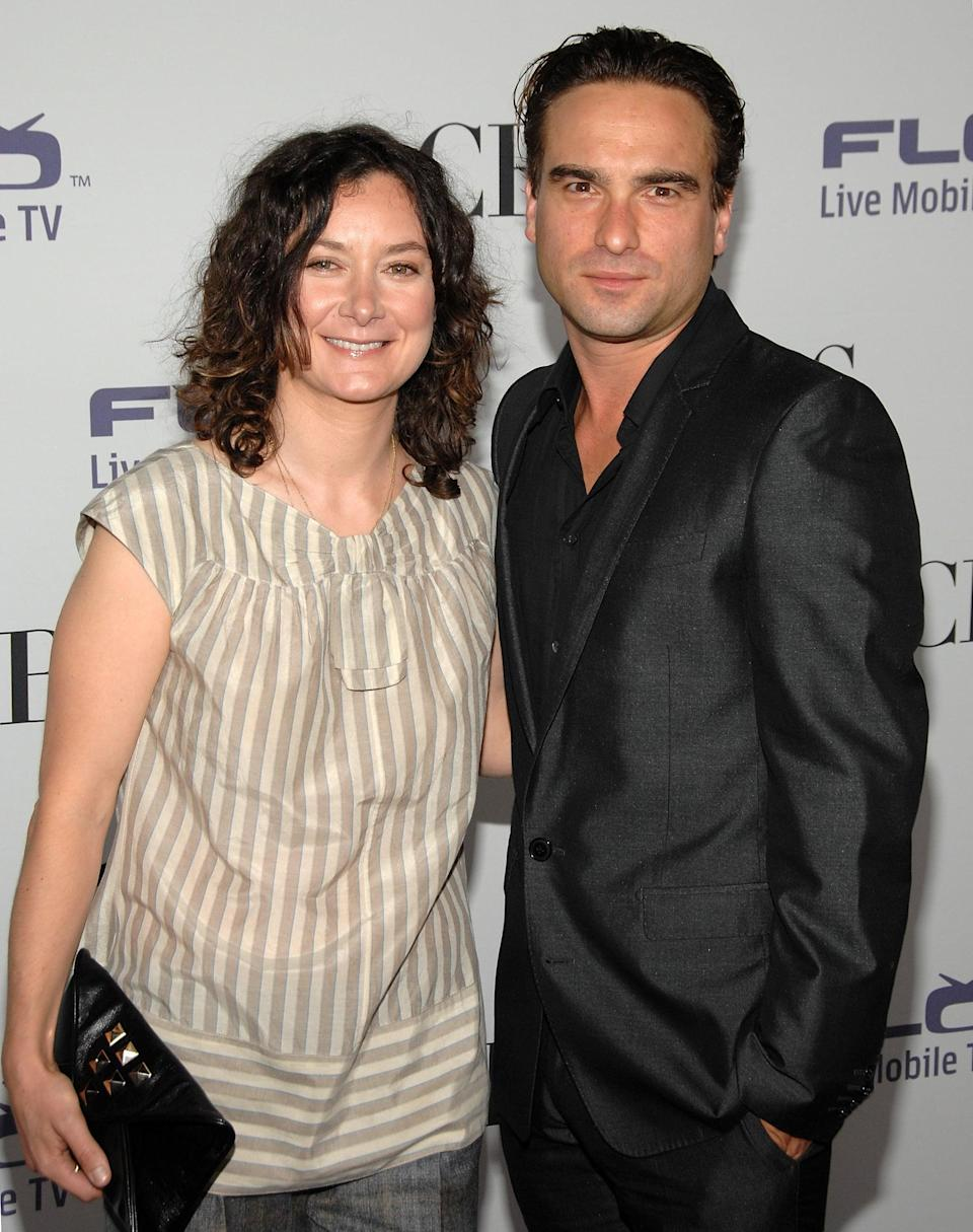 """<p>Kaley wasn't the first onscreen love interest Johnny ever romanced. Though it's unclear how long they dated, Johnny and his <strong>Roseanne </strong>costar Sara dated while playing David and Darlene between 1988 and 1997, and they even reunited for the series reboot over 20 years later in 2018. </p> <p>During a September 2013 episode of <strong>The Talk</strong>, Sara revealed that <a href=""""http://www.today.com/popculture/sara-gilbert-discovered-she-was-gay-while-dating-johnny-galecki-8C11142182"""" class=""""link rapid-noclick-resp"""" rel=""""nofollow noopener"""" target=""""_blank"""" data-ylk=""""slk:she realized she was gay while dating Johnny"""">she realized she was gay while dating Johnny</a>. """"I thought he was super cute and had a crush on him,"""" she recounted. """"We started dating, and he would come over and we would, like, make out, and then I would start to get depressed . . . I eventually told him I thought it was about my sexuality, and he was super sweet about it."""" Johnny supported her and the two were able to maintain a close friendship. </p>"""