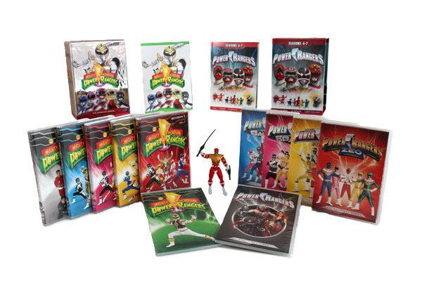 """<b>TV DVDs</b><br><br><b>""""Power Rangers: From Mighty Morphin to Lost Galaxy"""" DVD Box Set</b> (Time Life)<br>Not for the casual """"Power Rangers"""" fan, this amazing collection contains 40 discs with 338 episodes -- the first seven seasons of """"Rangers"""" action -- plus the rare red Ranger action figure. Three full discs of bonus materials includes new interviews with the cast and creative team members; featurettes on casting, the franchise's villains and """"Rangers"""" fans; promo videos; a feature on Power Morphicon, the Power Rangers convention; four direct-to-VHS specials; the 1994 official fan club video; and videos on the show's stunt teams and fan-fave characters Bulk and Skull.<br><br><a href=""""http://timelife.com/products/power-rangers-from-mighty-morphin-to-lost-galaxy"""">Time Life</a>, $219.95"""