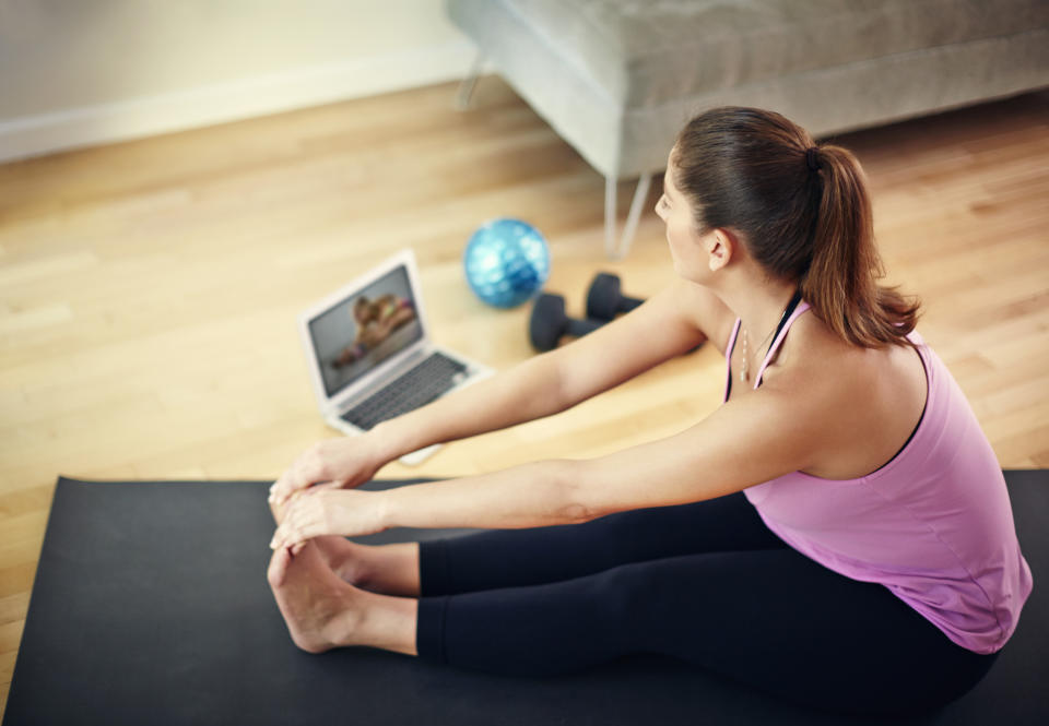 Many of us plan on ditching our unused gym membership and working out at home. (Getty Images)