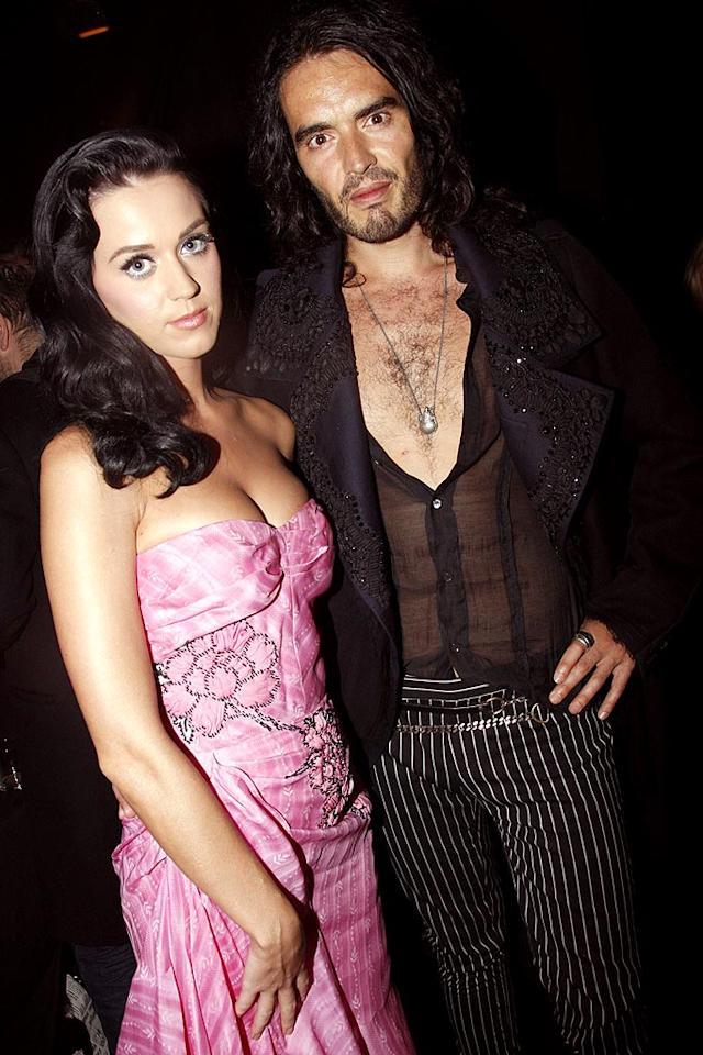 "While Don Draper was busy bringing back the skinny tie, Katy Perry and Russell Brand were both carving out their own unique looks. Now the two are fashioning a relationship together. They first hit it off backstage at the VMAs, but this week they went public at a Paris runway show. Eric Ryan/<a href=""http://www.gettyimages.com/"" target=""new"">GettyImages.com</a> - October 7, 2009"