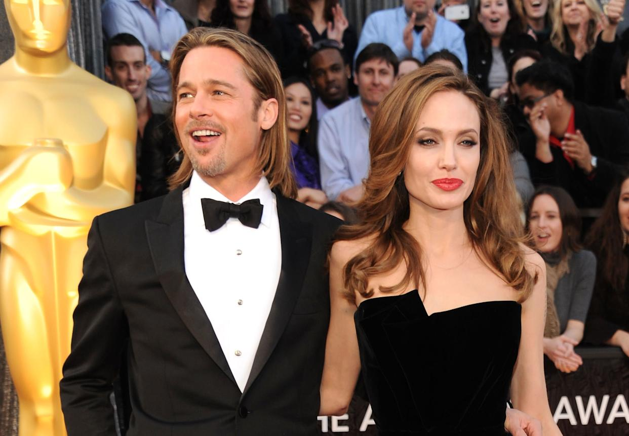 """""""I am very lucky with Brad,"""" <a href=""""http://hollywoodlife.com/2011/05/31/angelina-jolie-cleopatra-brad-pitt-jennifer-aniston/"""" rel=""""nofollow noopener"""" target=""""_blank"""" data-ylk=""""slk:she told the Telegraph"""" class=""""link rapid-noclick-resp"""">she told the Telegraph</a>. """"He is a real gentleman, but he is also a real man's man. He's got the wonderful balance of being an extraordinary, great, loving father, a very, very intelligent man and physically he's a real man, in all things that it means.'"""" She also discussed having sex during pregnancy, <a href=""""http://www.ew.com/ew/article/0,,20205854,00.html"""" rel=""""nofollow noopener"""" target=""""_blank"""" data-ylk=""""slk:telling EW"""" class=""""link rapid-noclick-resp"""">telling EW</a>, """"It's great for the sex life. It just makes you a lot more creative, so you have fun."""""""