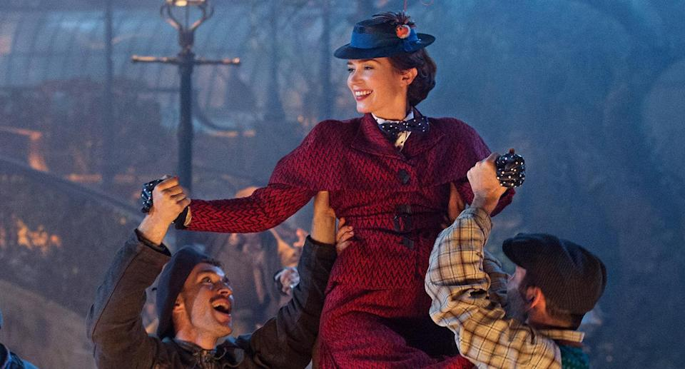 Emily Blunt is Mary Poppins in <i>Mary Poppins Returns</i> (Disney)