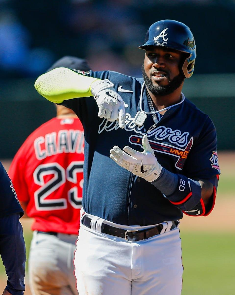 Marcell Ozuna served as the DH for the Braves much of last season.