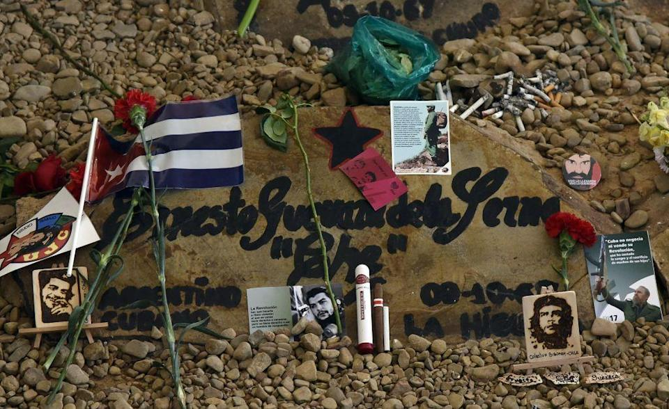 Che's grave is a magnet for his fans (AFP/Getty Images)