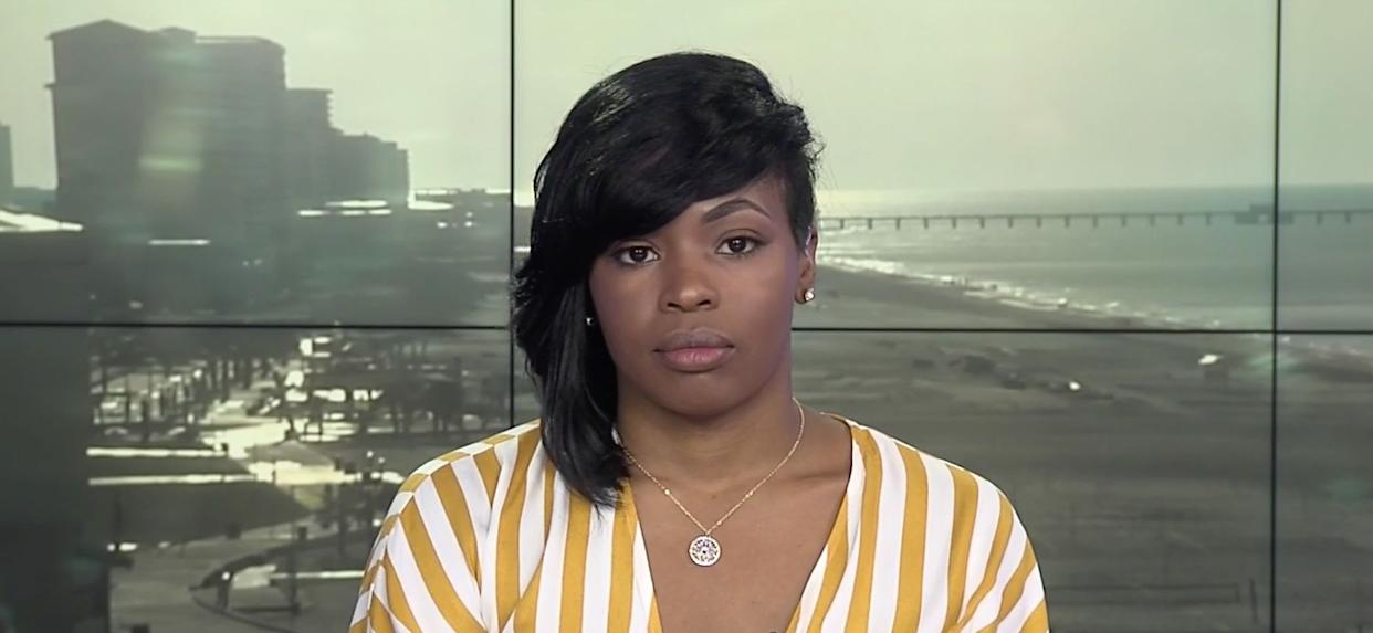 Chikesia Clemons on MSNBC. Clemonswas the victim of a violent police encounter after asking about utensils at a Waffle House. (Photo: MSNBC)
