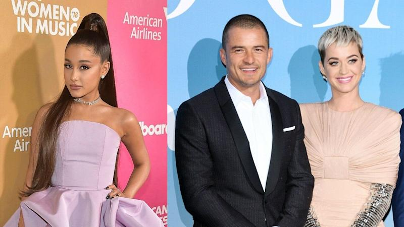 Katy Perry Says Orlando Bloom Has 'Mad Respect' for Ariana Grande After She Secretly Paid for Their Meal
