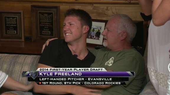 Kyle Freeland had an amazing reaction to being drafted by hometown Rockies