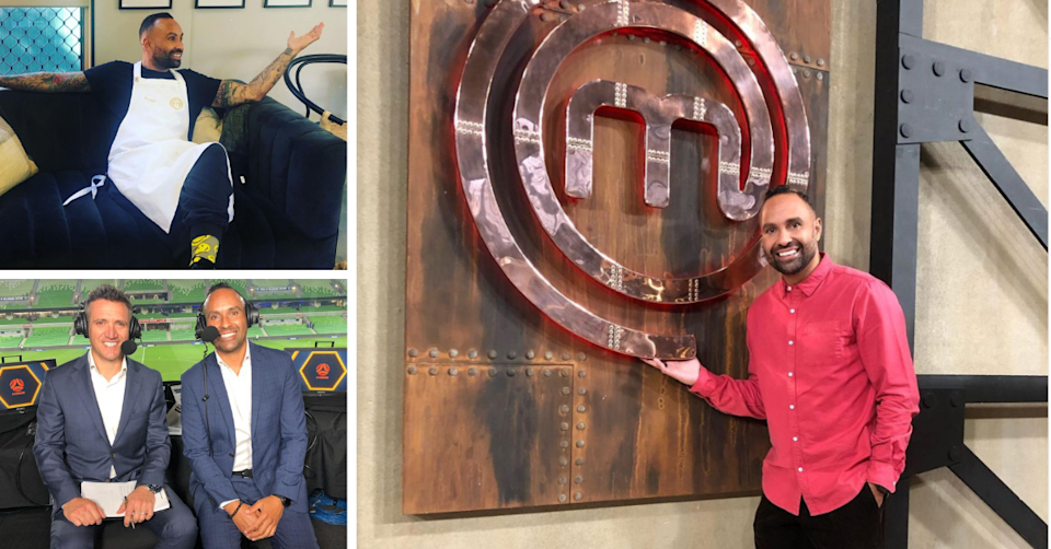 Former soccer player Archie Thompson has slipped on the apron to give cooking a go on 'Celebrity MasterChef'. Photo: Instagram/@10archie