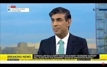 <p>Rishi Sunak hinted on Sunday that he may announce and extension to the furlough scheme this week</p> (Sky News)