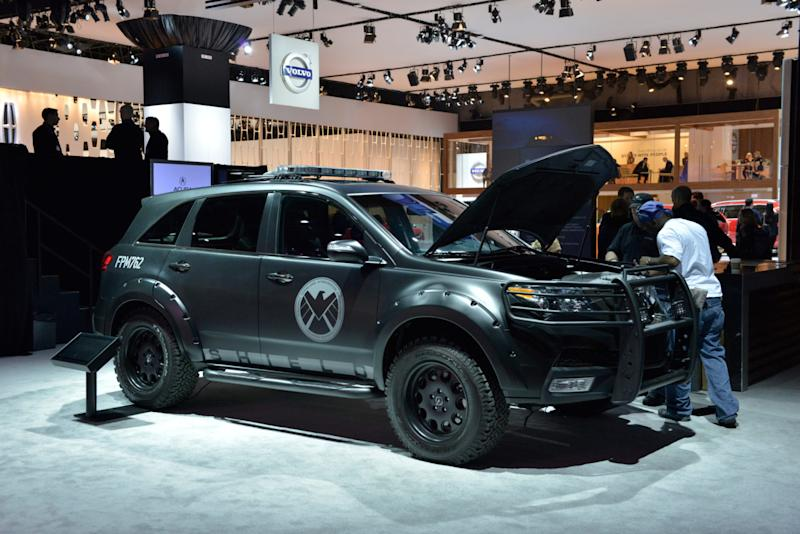 The rugged MDX from the TV series on display.