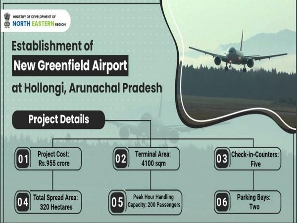 Airports Authority of India is set to inaugurate Greenfield airport in Hollongi, Arunachal Pradesh. (Source - Ministry of Development of North Eastern Region)
